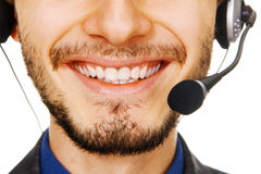 Young customer service operator Stock Images