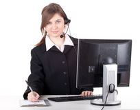 Young customer service operator girl Royalty Free Stock Photo