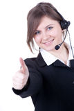 Young customer service operator girl Stock Images