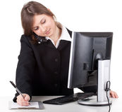 Young customer service operator girl Stock Photo