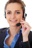 Young customer service operator, isolated Royalty Free Stock Photography