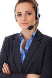 Young customer service operator, isolated Stock Images