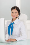Young customer service representative. Royalty Free Stock Photos