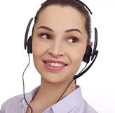 Young customer service representative. Isolated Stock Image