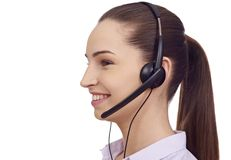 Young customer service representative. Isolated Stock Photography