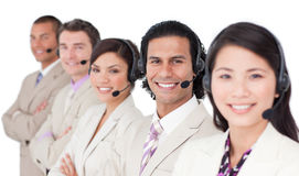 Young customer service representatives Royalty Free Stock Photography