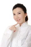 Young cute businesswoman Stock Photo