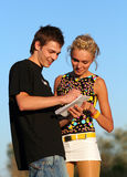 Young Cute Couple Boy And Girl Stock Photos