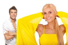 Young cute couple royalty free stock photo