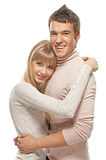 Young cute embracing couple Stock Images
