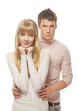 Young cute embracing couple Stock Photo
