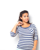 Young Cute Female With Fun Summer Look Royalty Free Stock Photography