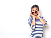 Young Cute Female With Fun Summer Look Royalty Free Stock Images