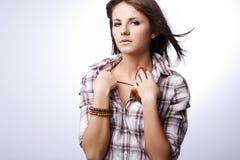 Young cute girl. Stock Photos