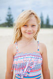 Young cute girl at the beach Royalty Free Stock Image