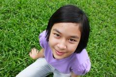Young cute girl relaxing Stock Photo