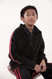 Young cute pre-teen asian boy Royalty Free Stock Image