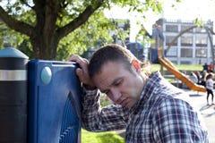 Young cute sad man Stock Image