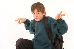 Young cute schoolboy Royalty Free Stock Photography