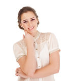 Young cute smiling girl Stock Images