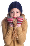Young cute winter girl Royalty Free Stock Photo