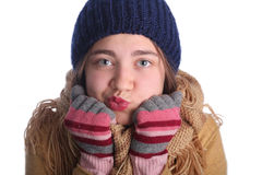 Young cute winter girl Royalty Free Stock Image