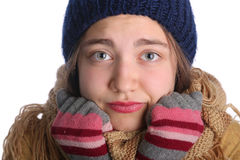 Young cute winter girl Royalty Free Stock Photos