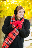 Young cute woman / girl in the cold weather Stock Photography