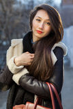 Young cute woman outdoor Royalty Free Stock Photography