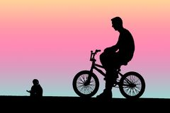 Young cyclist BMX bike stock images