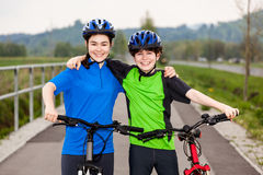 Young cyclists Stock Photos