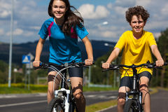 Young cyclists Royalty Free Stock Photos