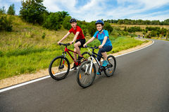 Young cyclists Stock Image