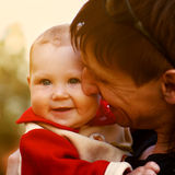Young dad holds her little daughter Royalty Free Stock Photography