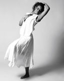 Young Dancer. Young african american dancer in studio Royalty Free Stock Photography