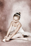 Young Dancer. Wearing a tutu and tiara stock photos
