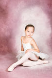 Young Dancer. Wearing a tutu and tiara royalty free stock photos