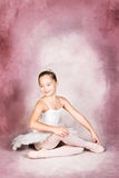 Young Dancer. Wearing a tutu and tiara royalty free stock images