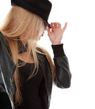Young dancer in black hat Royalty Free Stock Photo