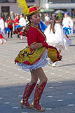 Young dancer from Chile in traditional costume Stock Photos