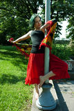 Young dancer dance in park Royalty Free Stock Photos