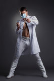 Young dancer in doctor costume Royalty Free Stock Photography