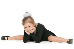 Young dancer on the floor Stock Photos