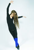Young dancer with long hair Royalty Free Stock Photography
