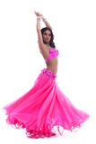 Young dancer in pink costume isolated Royalty Free Stock Image