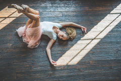 Young dancer posing at camera Royalty Free Stock Images