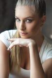 Young dancer posing at camera royalty free stock image