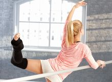 Young dancer practicing Royalty Free Stock Image