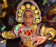 Young Dancer, Sri Lanka. Young perahera dancer captured in Attidiya Mihindu Perahera Royalty Free Stock Photography