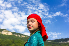 Young dancer in traditional Circassian dress Royalty Free Stock Photography